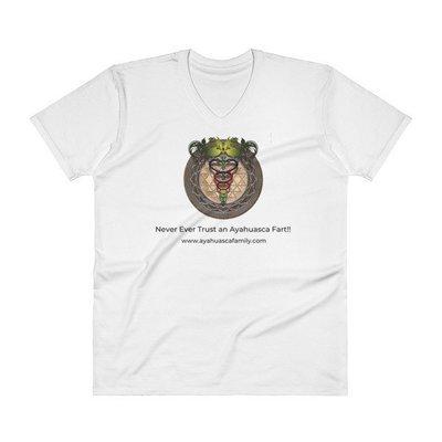 Ayahuasca Fart!! V-Neck T-Shirt