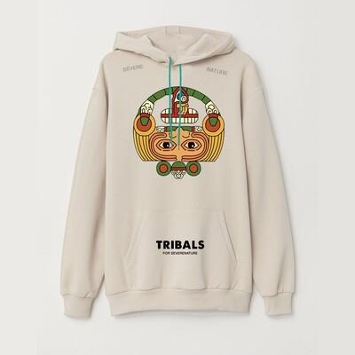 Tribals Calendar Hoodie Bone White