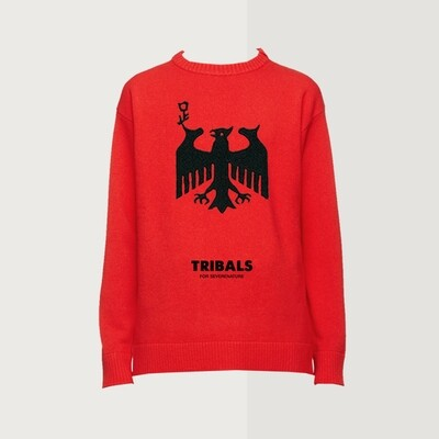 Tribals Knit Inscription Red
