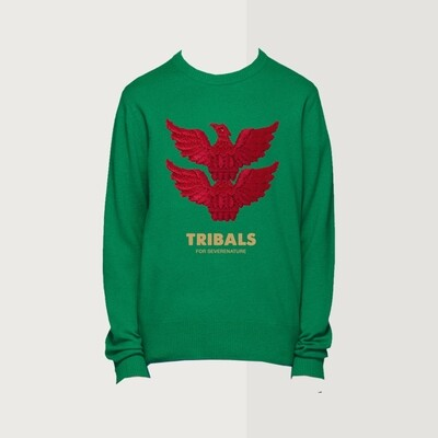 Tribals Knit Inscription Green