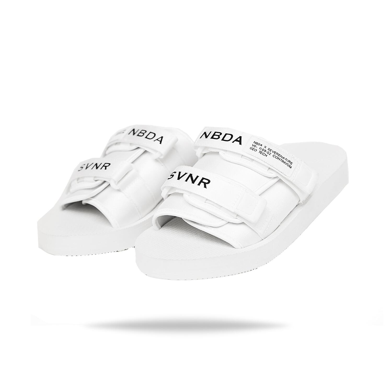 """White NBDA X SEVERE NATURE """"GEO TECH"""" Sandals"""