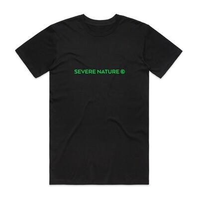 Black and Green Standard Logo tee