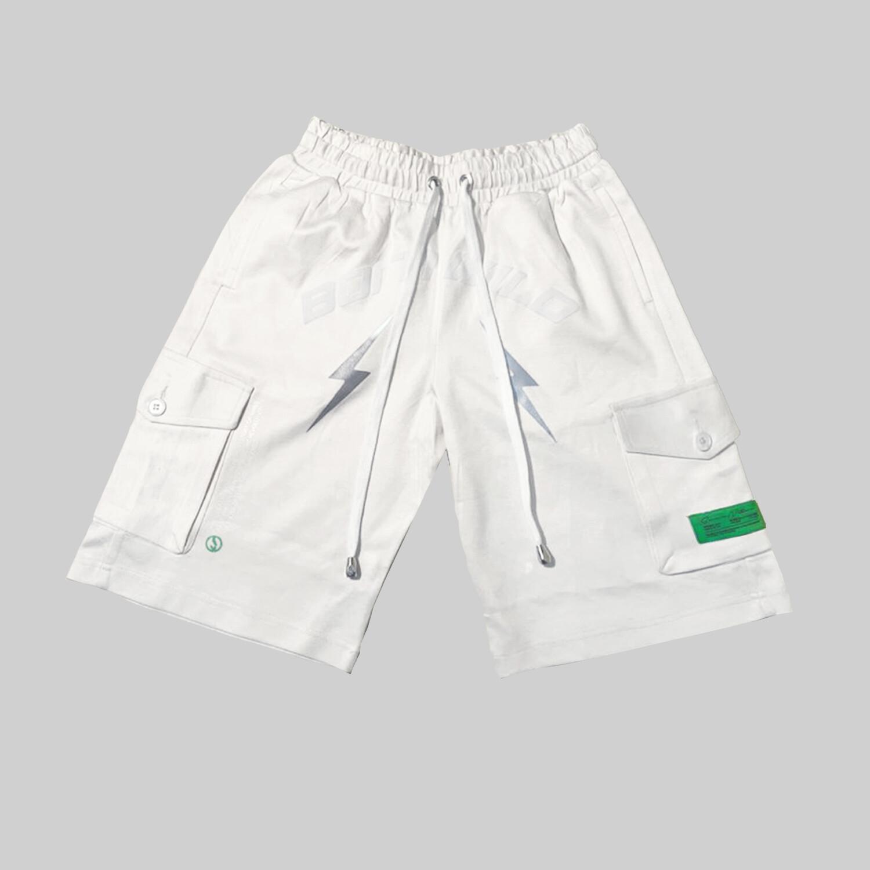 Born Wild Live Free Shorts (Cream)