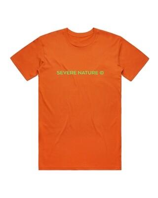 Orange and Green Standard Logo tee