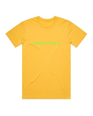Yellow and Green Standard Logo tee