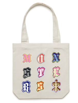 Monsters Tote Cream