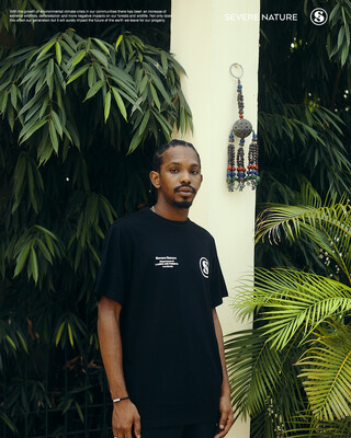 Black Lost Fires Tee ( Green - White)