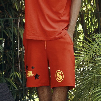Red Lost Fires Shorts ( Yellow - Black)
