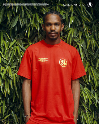 Red Lost Fires Tee ( Yellow - Black)