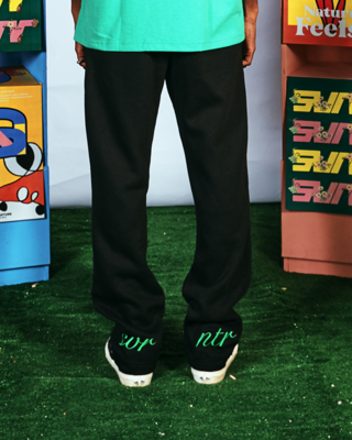 ESSENTIAL LOUNGE PANTS (BLACK-GREEN)