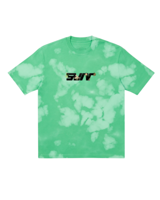 SVNR NATURE LOGO TEE (GREEN-BLEACHED)