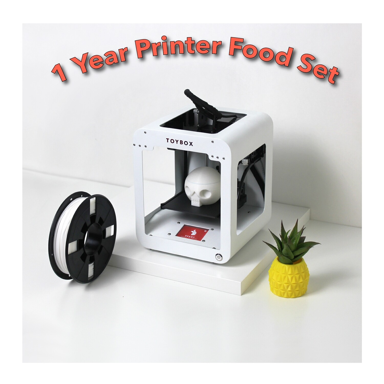 1 YEAR SET - TOYBOX 3D PRINTER (52 FOOD)
