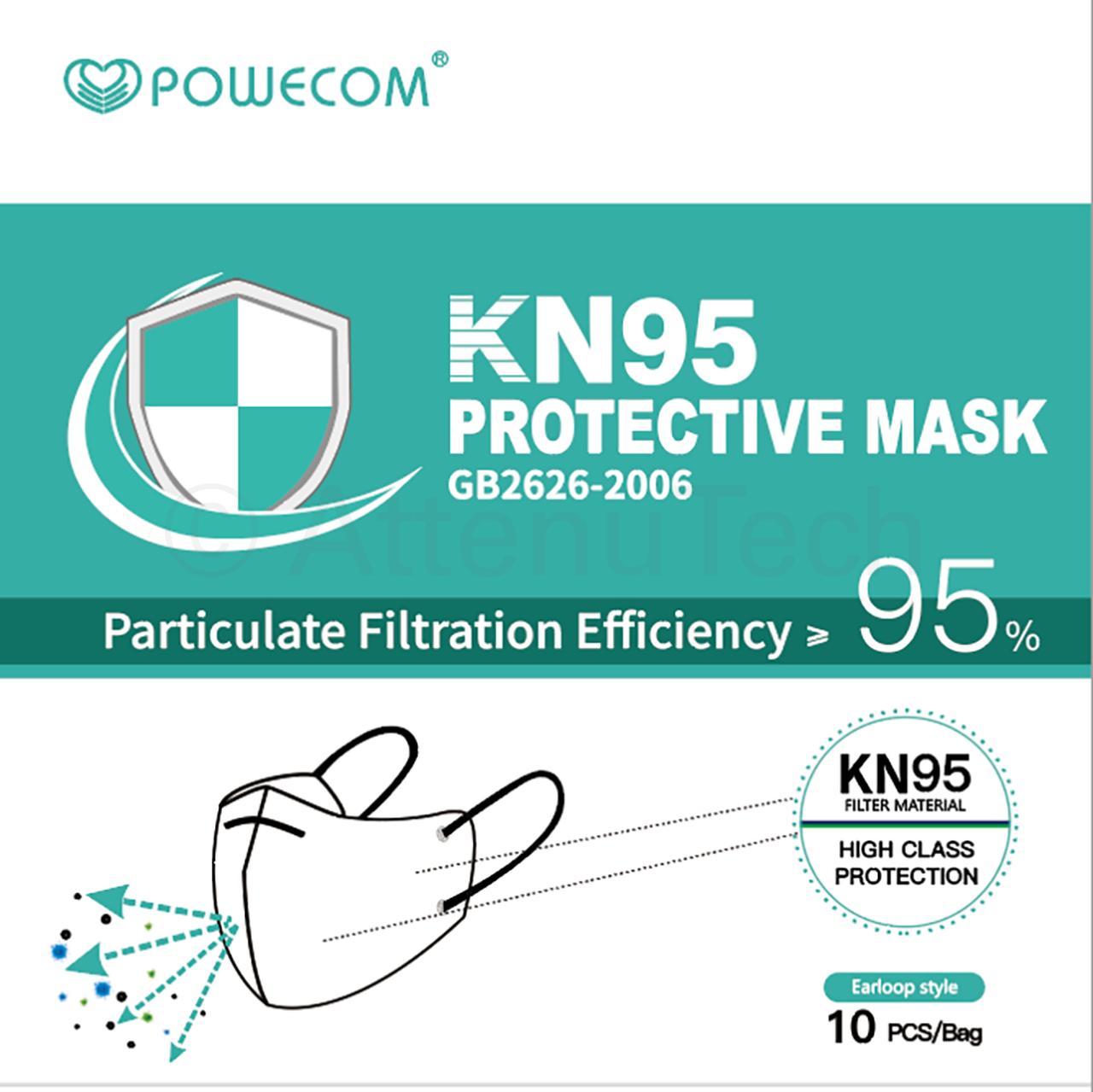 KN95 Respirator Face Mask (10pcs)