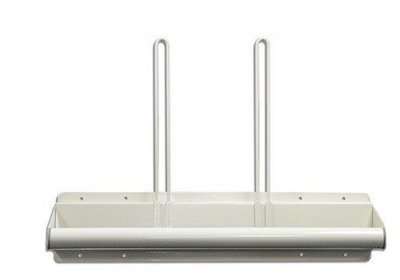 Wall Mounted Steel Apron Rack, Towel Bar Style, with Two Glove Holders #AGP-110