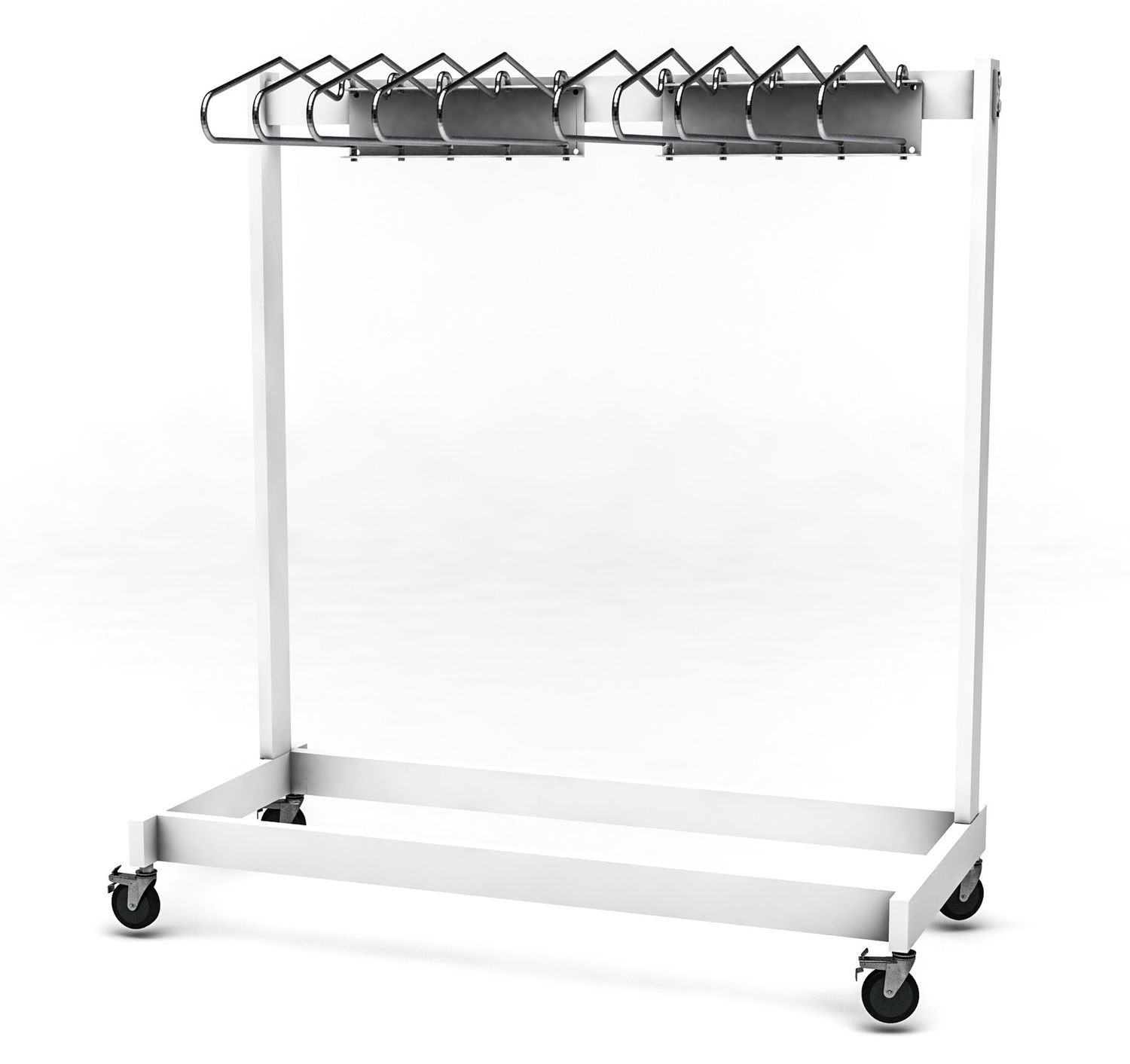 Garment Style Mobile 10 Arm Apron Rack, #AR10-VALET-S