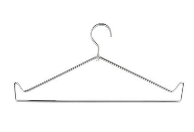 Open Top Chrome Wire Apron Hanger, #H100OP