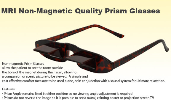 MRI Non-Magnetic Patient Glasses