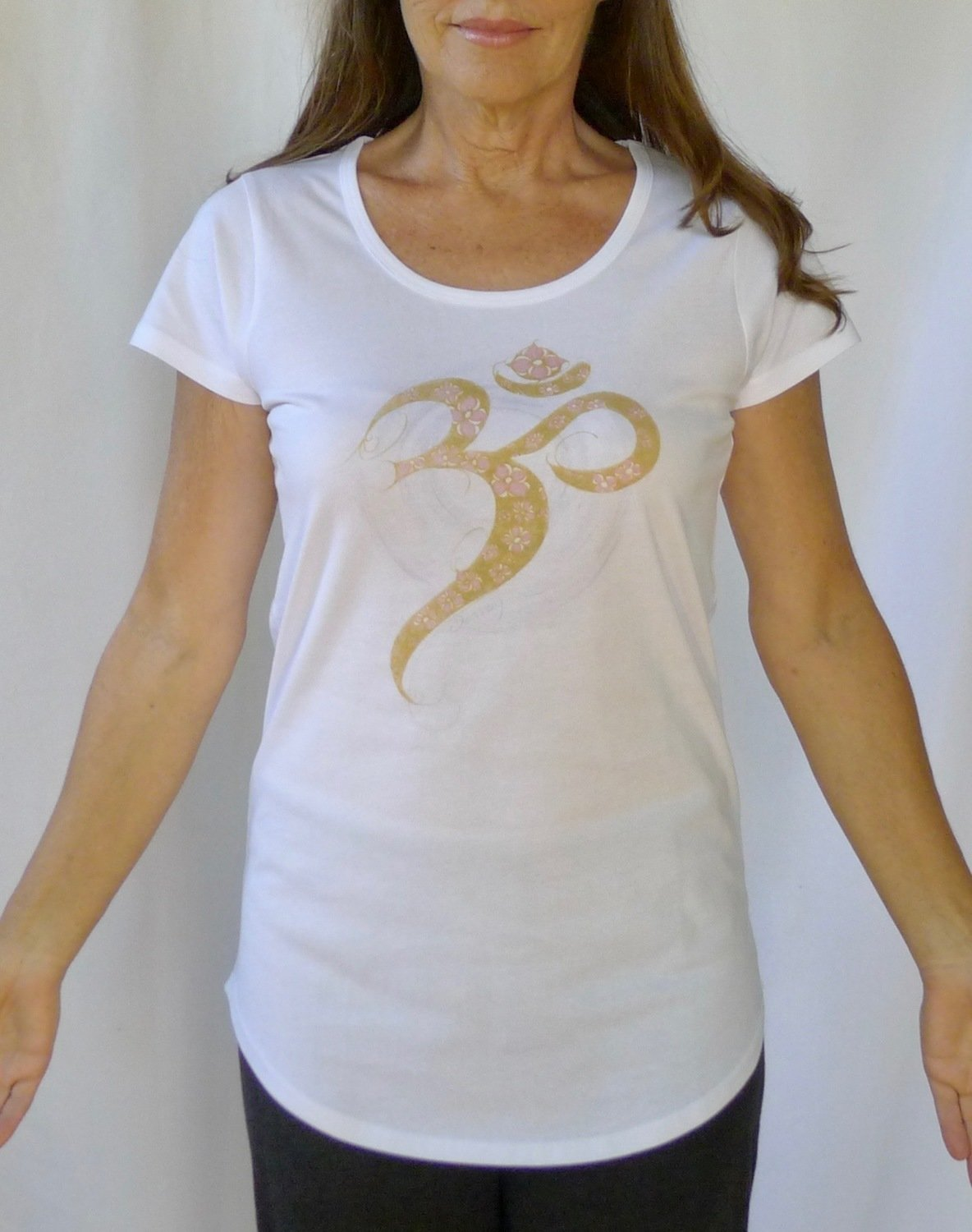 Golden Aum Yoga Tee