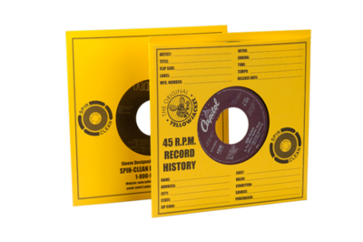 Spin-Clean® Yellow Jacket Record Sleeves (PKG 50)