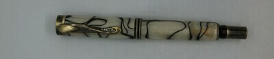 Art Deco 2.0  Rollerball- Body color is white/black mottled resin