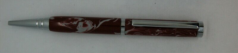 Tech Pen 2.0  - Barrel color Red and  White custom resin