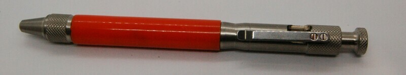 Industrialist Hardware Stainless Steel and Body Orange Resin