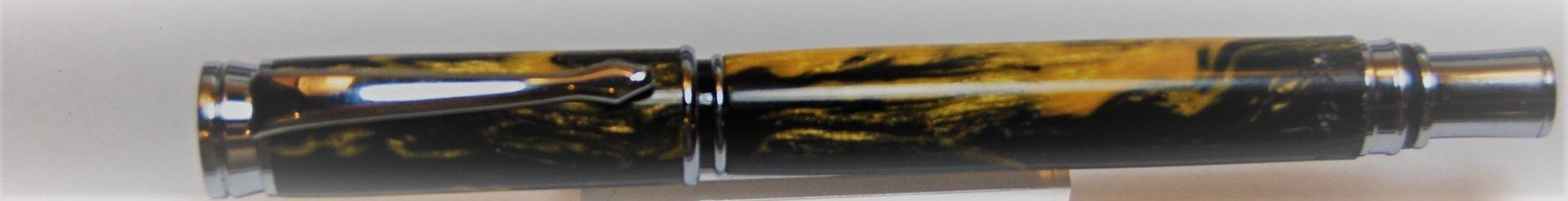 Executive Rollerball - Barrel Black and Gold