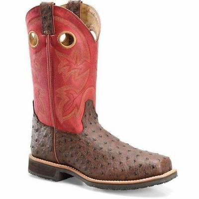 Double H Brown Ostrich ST