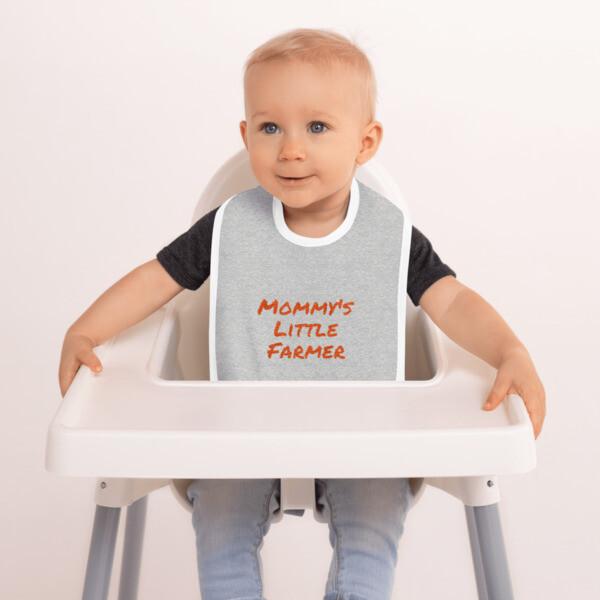 Embroidered Farm Baby Bib