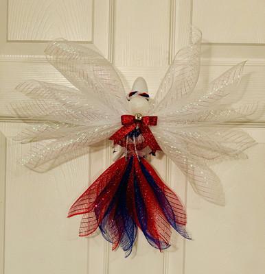 Patriotic Angel Tree Topper