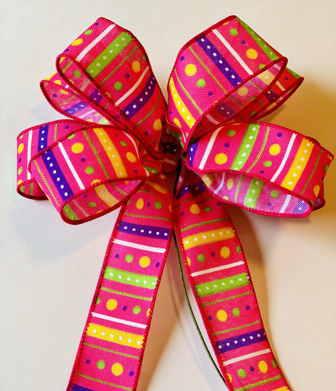 Fuchsia Decor, Summer Bows for Wreaths, Spring Bows, Summer Decorations, Purple Wreath Bows, A Touch of Faith