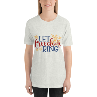 Let Freedom Ring 4th of July Shirt Patriotic Pullover A Touch of Faith