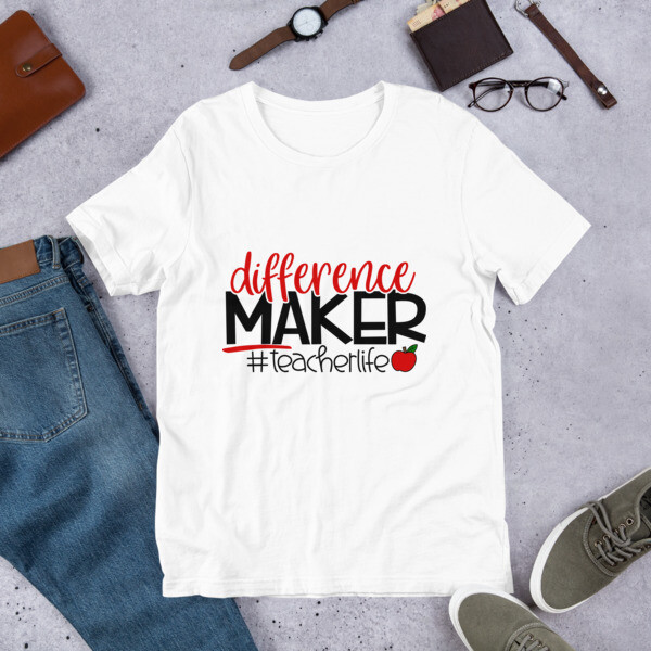 Teacher Life Difference Maker Educator Short-Sleeve Unisex T-Shirt A Touch of Faith