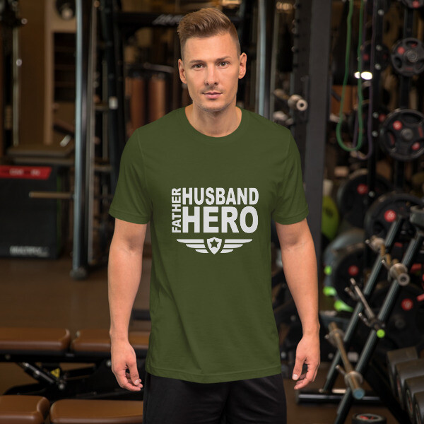 Father Husband Hero Men's Short-Sleeve Unisex T-Shirt A Touch of Faith