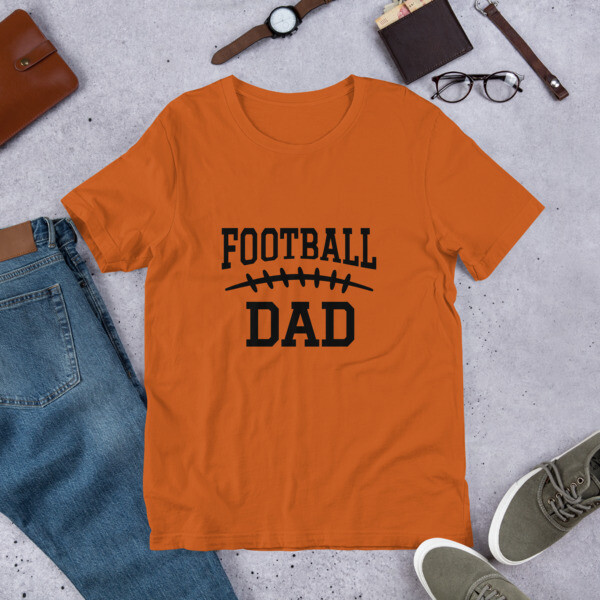 Football Dad Game Day Men's Short-Sleeve Unisex T-Shirt A Touch of Faith