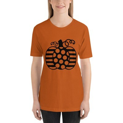 Pumpkin Stripe Polka Dot Pattern Short-Sleeve Unisex T-Shirt A Touch of Faith