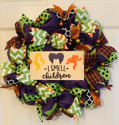 Hocus Pocus Wreath, I Smell Children Halloween Décor, A Touch Of Faith