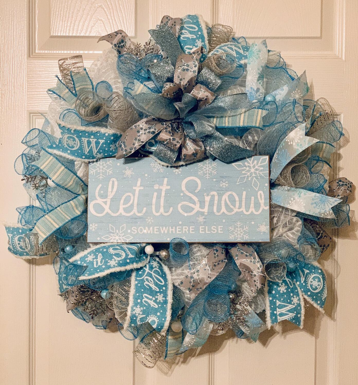 Let It Snow Wreath, Winter Wreaths for Front Door, Winter Decor, Snow Decor, A Touch of Faith