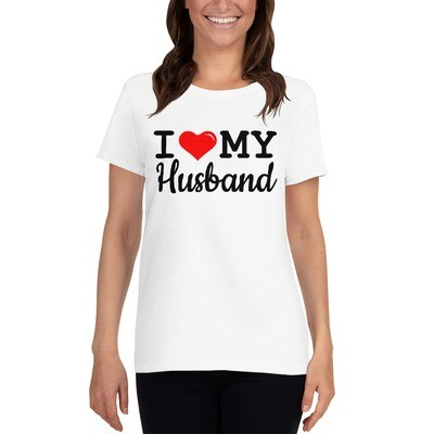 I Love My Husband Valentine's Day Wedding Anniversary Vacation Women's Short Sleeve T-shirt A Touch of Faith