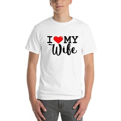 I Love My Wife Valentine's Day Wedding Anniversary Vacation Men's Short Sleeve T-Shirt A Touch of Faith