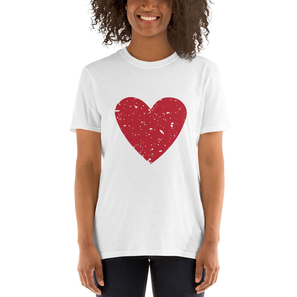 Grunge Heart Valentine's Day Wedding Anniversary Love Mrs. Short-Sleeve Unisex T-Shirt A Touch of Faith