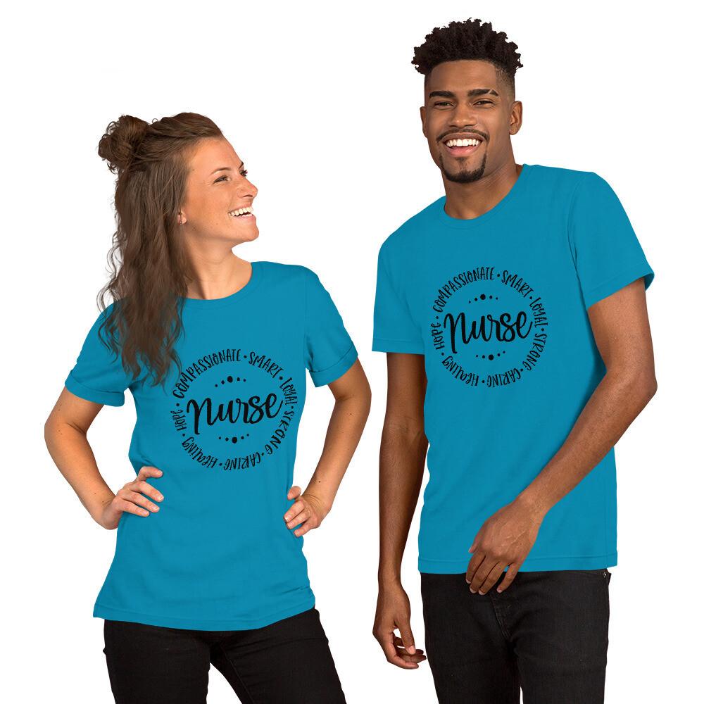 Nurse Healthcare Worker Short-Sleeve Unisex T-Shirt A Touch of Faith