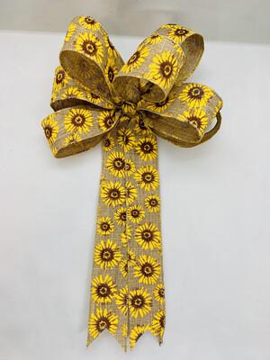 Sunflower Decor, Sunflower Bow, Sunflower Wreath Bow, Fall Bow for Wreath, ATouchOfFaithShop