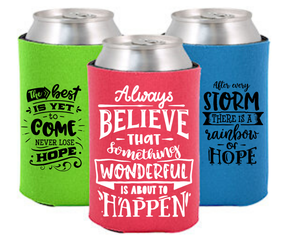 Inspirational Can Koozie Cup Holder A Touch of Faith