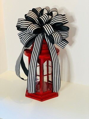 Black White Bow, Wreath Bows, Cabana Stripe Ribbon, Black White Decor, A Touch of Faith
