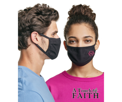 Monogrammed Washable Unisex Face Mask, A Touch of Faith