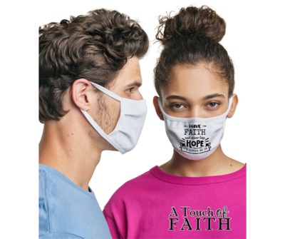 Inspirational Quote Washable Unisex Face Mask, A Touch of Faith