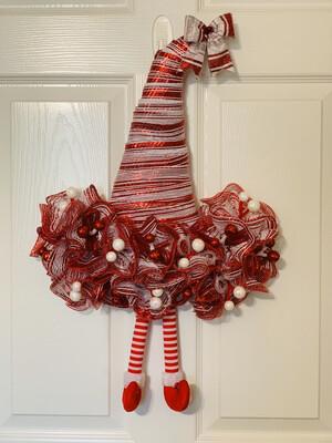 Elf Wreath, Witch Hat Wreath, XMas Decorations, Elf Wreath Attachment, A Touch of Faith