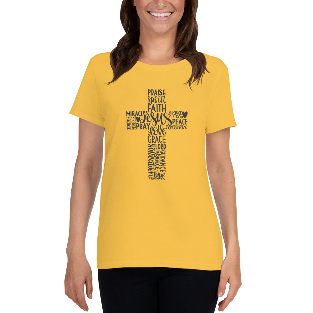 Inspirational Cross Christian Unisex T-shirt A Touch of Faith