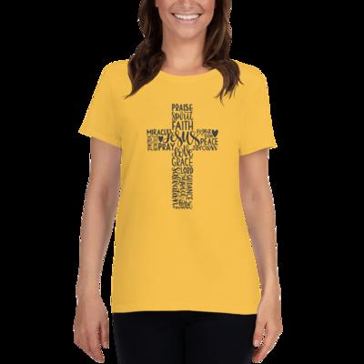 Inspirational Cross Christian Unisex T-shirt A Touch of Faith